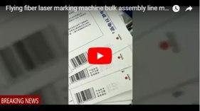 Flying Fiber Laser Marking Machine Bulk Assembly Line Marking